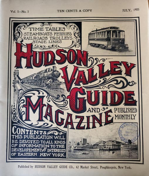 Cover of Hudson Valley Guide Magazine Vol 1-No. 3, 1905