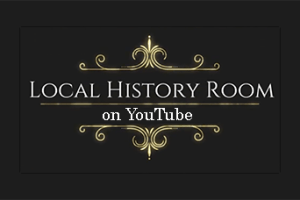 Graphic with word Local History on YouTube