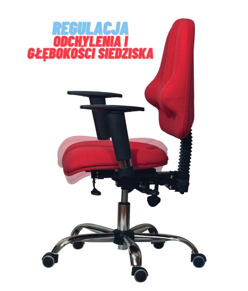 regulacja głębokości siedziska krzesła rehabilitacyjnego classic pro