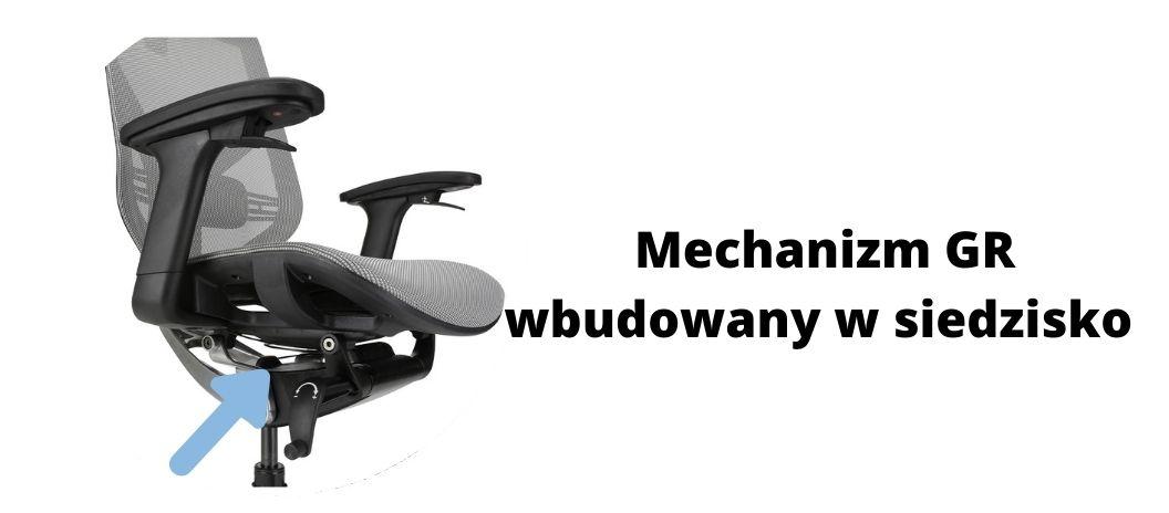 Wygodny fotel ergonomiczny biurowy Zhuo Insight, mechanizm GS