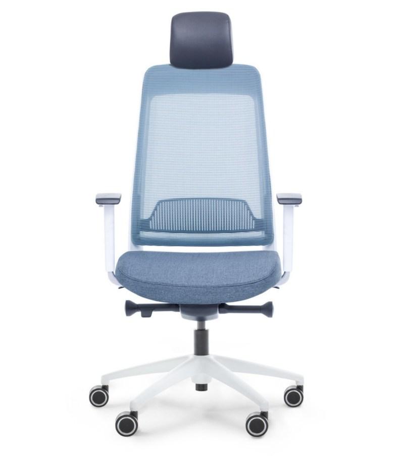 przód fotel niebieski ergonomiczny Shine EFG 100W
