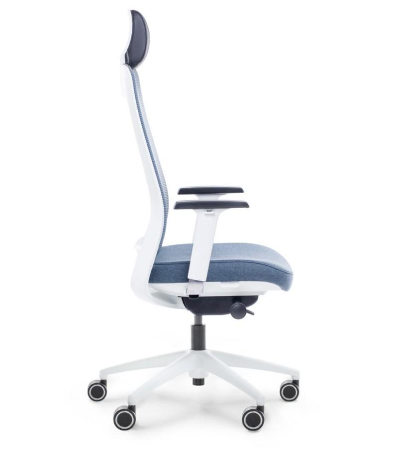 bok fotel niebieski ergonomiczny Shine EFG 100W