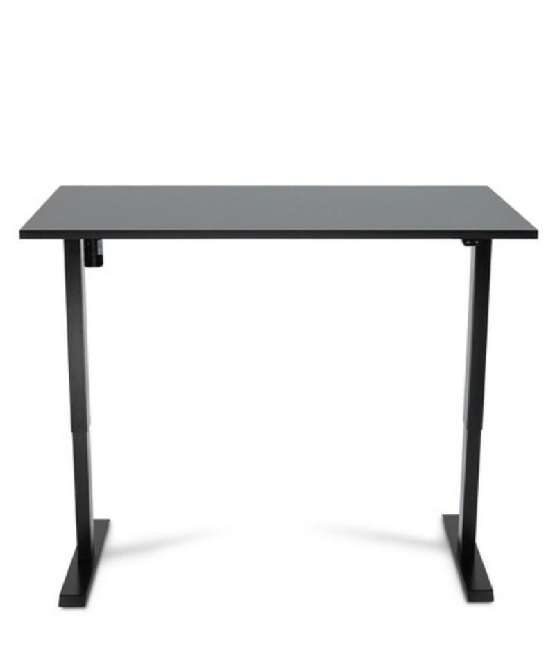 Biurko czarne z elektrycznie regulowanÄ… wysokoÅ›ciÄ… do pracy przed komputerem na stojÄ…co i siedzÄ…co, Basic