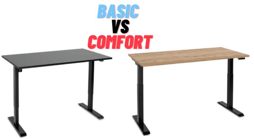 biurko basic porównanie z biurkiem elektrycznym comfort