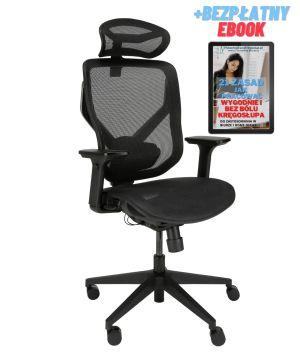 ergonomiczne krzesło biurowe Zhuo Sulaco czarne