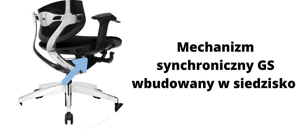 fotel biurowy ergonomiczny Zhuo Maven, mechanizm synchroniczny