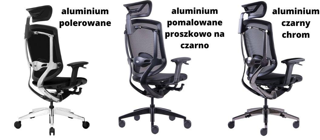 Fotel biurowy ergonomiczny Zhuo Maven, rodzaje stelaża