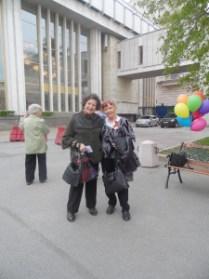 На этой фотографии изображены Л.П. Тетерина и М.М.Маневич