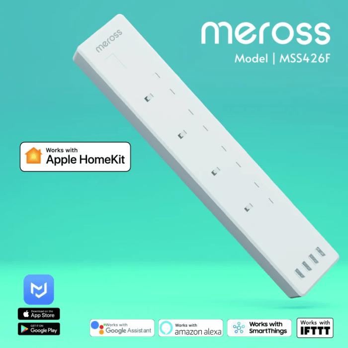 Meross HomeKit Surge Protector 4位智能拖板 (13A) MSS426F
