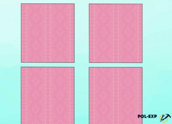 La habitación está dividida en 4 rectángulos.