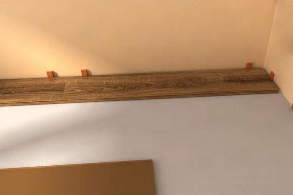 Με τη σωστή σήμανση, αυτό το κομμάτι θα σταθμίσει ιδανικά στη θέση του με το απαραίτητο κενό από το τέλος στον τοίχο
