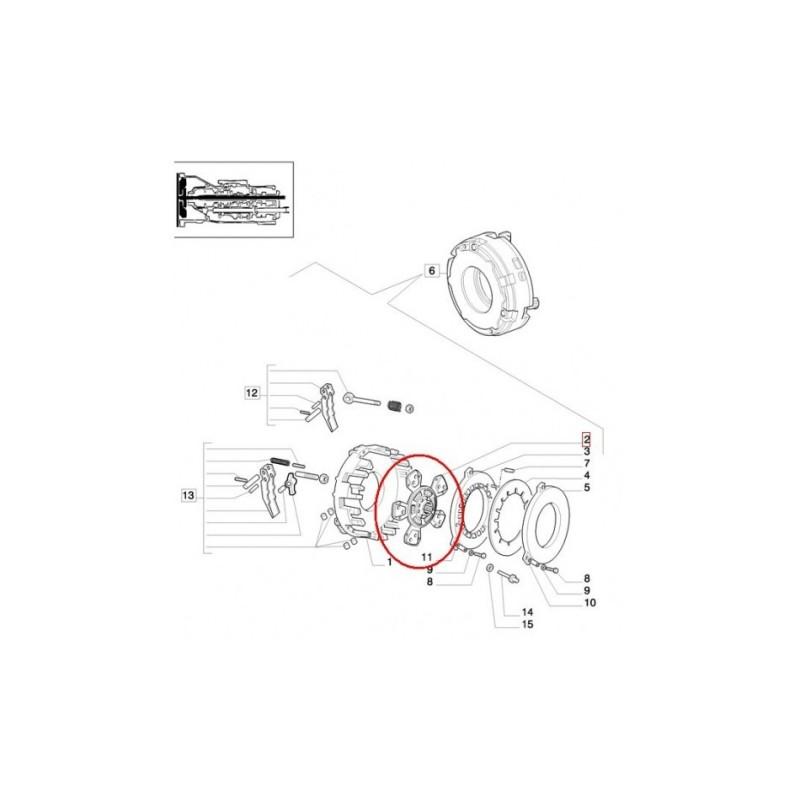 Tarcza sprzęgła, sprzęgłowa Fi280 14z 35x40 5092794 New