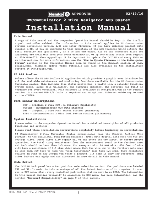 small resolution of 2 wire ezcomm navigator aps system installation manual