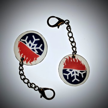 Keychains   Fire and Ice Couple Group for All Events   Polar Flame