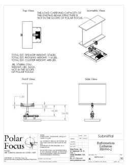 Polar Focus rigging for JBL line arrays