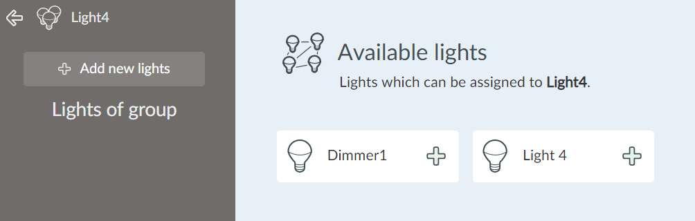 Available lights