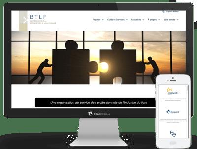 création de site web pour btlf