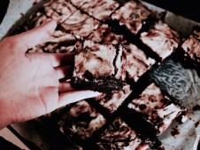 Brownies cut in squares