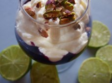 blueberry compote with mascarpone and lime
