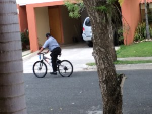 And there's a security dude that rides around on a bike.  alright.