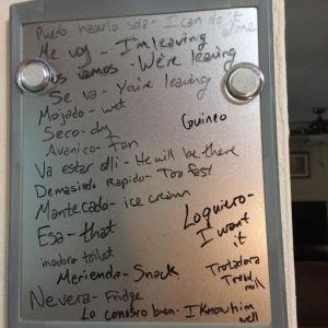 dry erase board in my kitchen