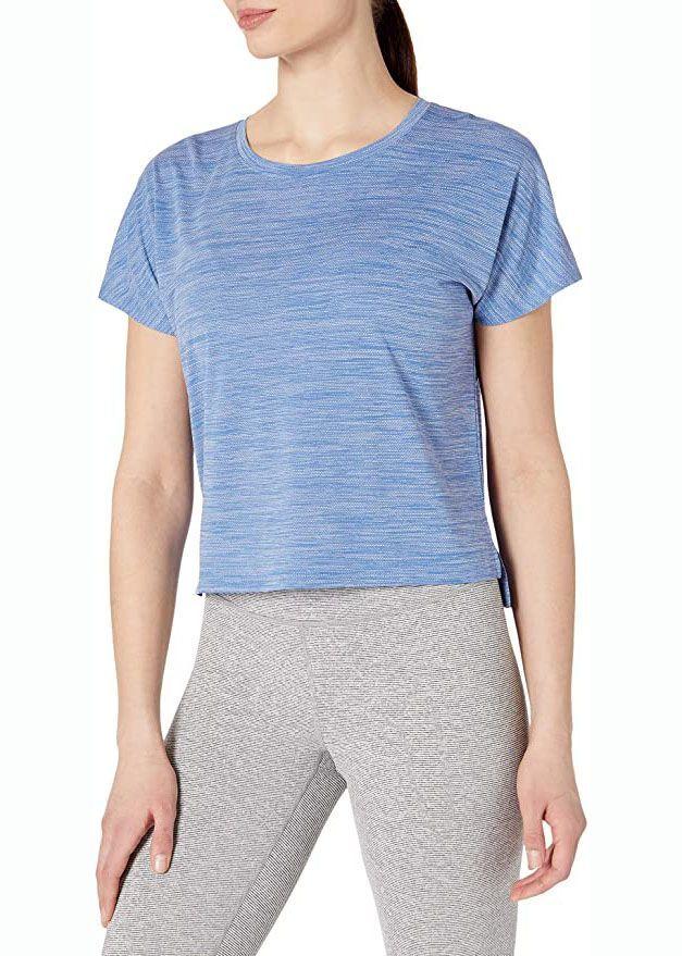 Jacquard Mesh Cropped T-Shirt