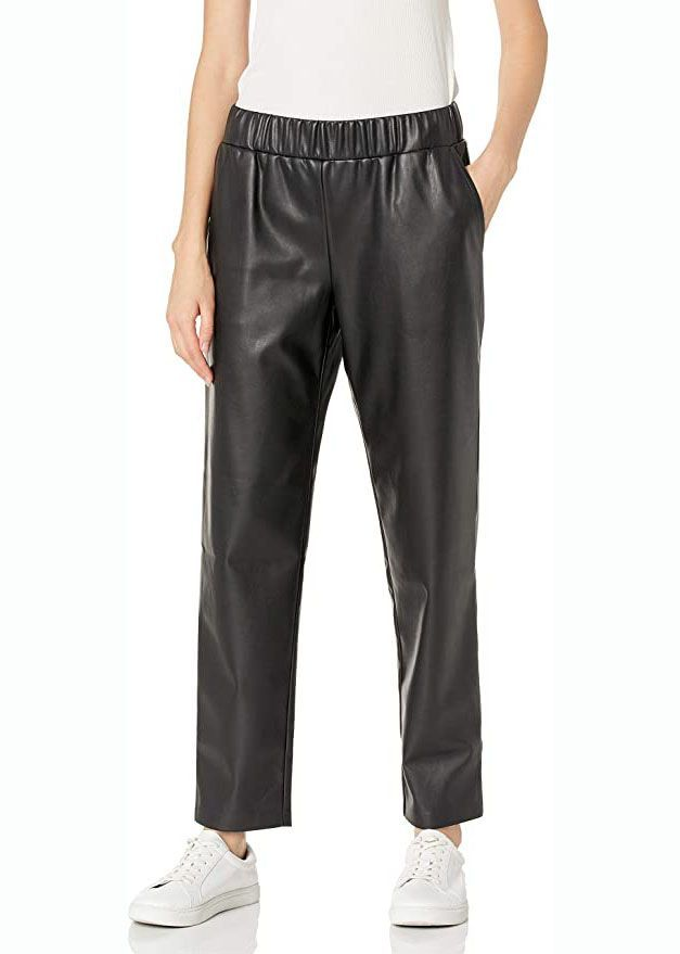 Faux Leather Pull-On Jogger