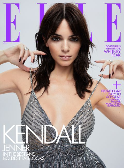 kendall jenner on the august 2021 cover of elle