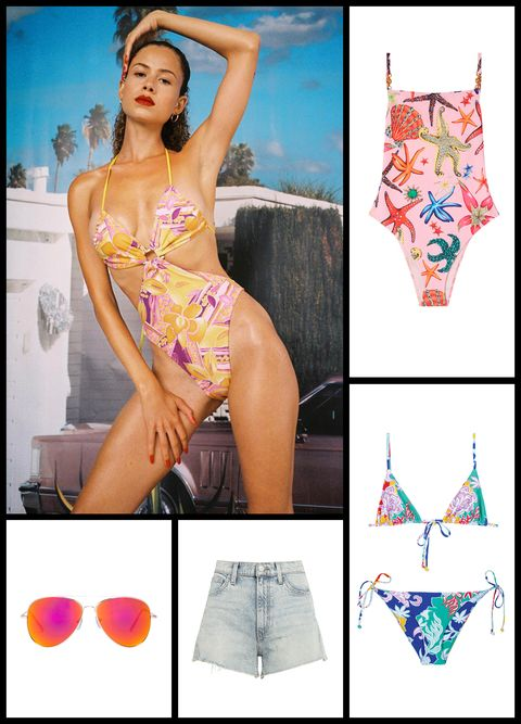 pool party versace swimsuit