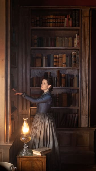 Rebecca In the Library - Chapelwaite Season 1 Episode 2