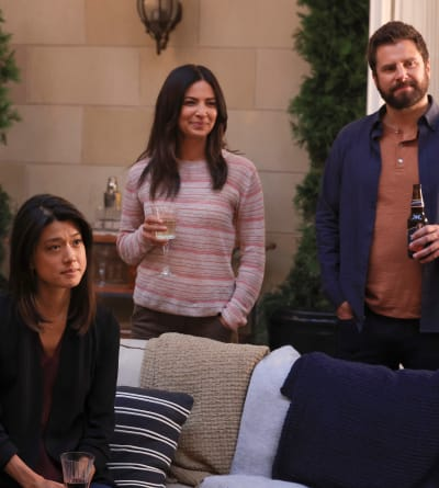 Katherine and Darcy Hang with the Gang - tall - A Million Little Things Season 4 Episode 1