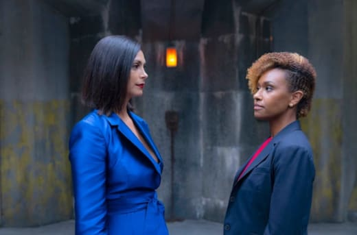 Morena Baccarin and Ryan Michelle Bathe for NBC