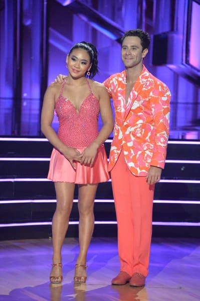 Suni Lee and pro Sasha Farber - Dancing With the Stars Season 30 Episode 1