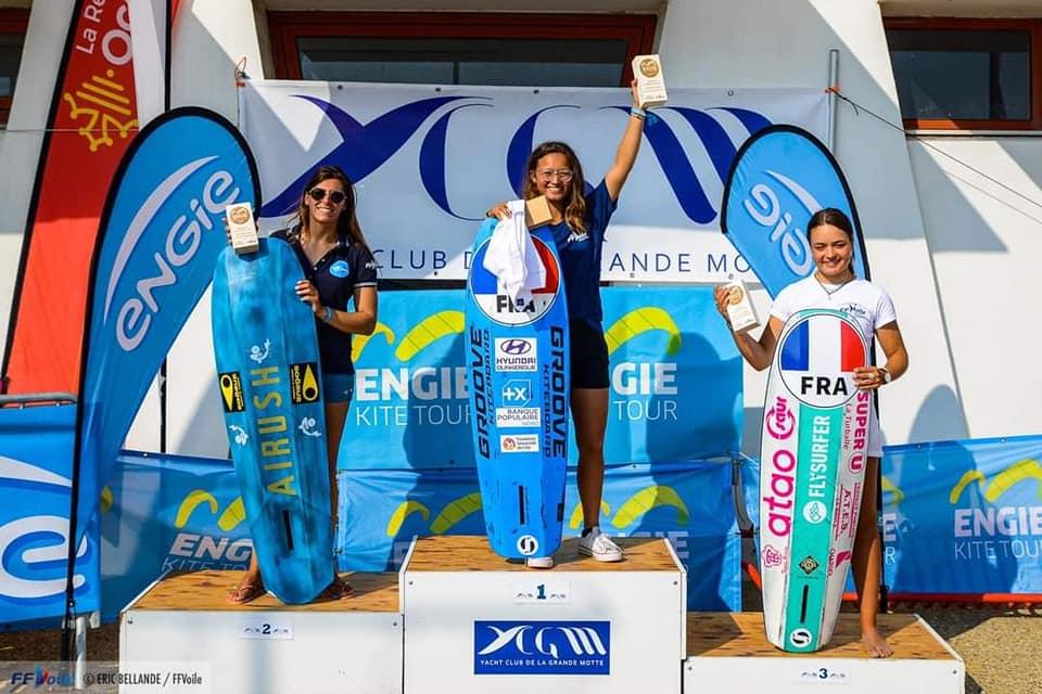 Anaïs Maï DESJARDINS remporte l'Engie Kite Tour de la Grande Motte