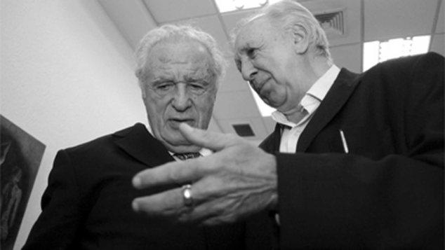 Los periodistas Julio Scherer y Vicente Leñero. Foto: Internet