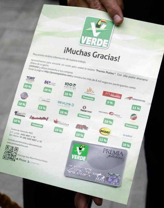 tarjetas verdes