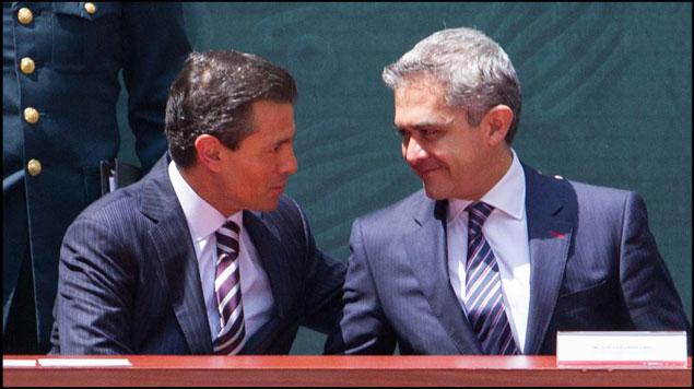 Enrique Peña Nieto y Miguel Ángel Mancera.