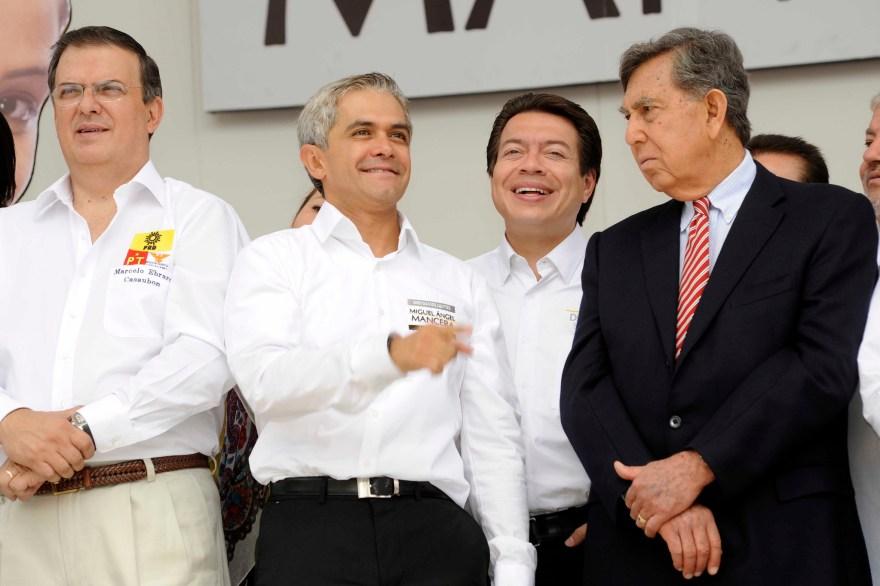 Marcelo Ebrard, Miguel Ángel Mancera, Mario Delgado y Cuauhtemoc Cárdenas. Foto: Flickr