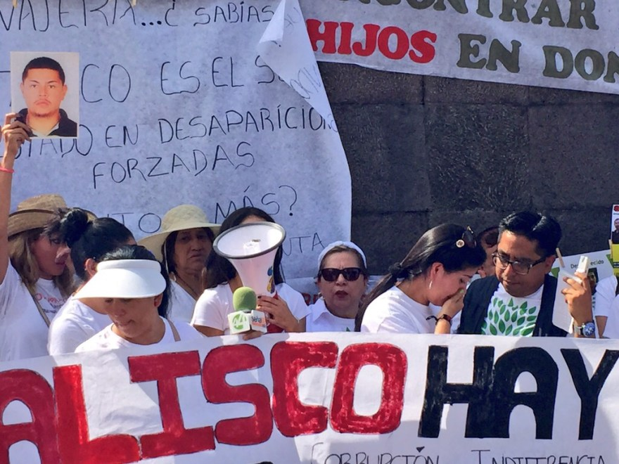 Manifestación de Madres y Familiares de personas desaparecidas en Jalisco. Foto: César Octavio Huerta