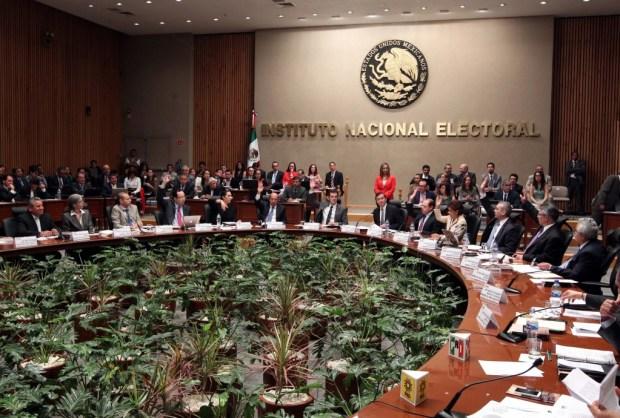 Sesión de los consejeros del Instituto Nacional Electoral.
