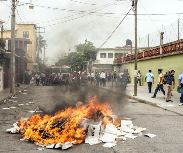 Protestas de la CNTE, en Oaxaca.