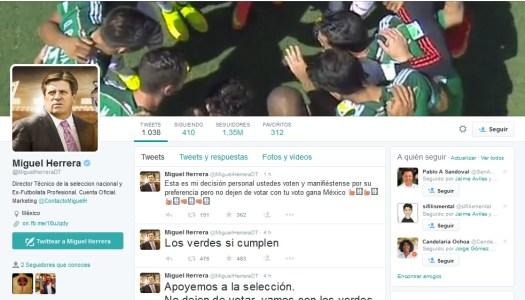 La selección mexicana vota por el Verde y por el abstencionismo