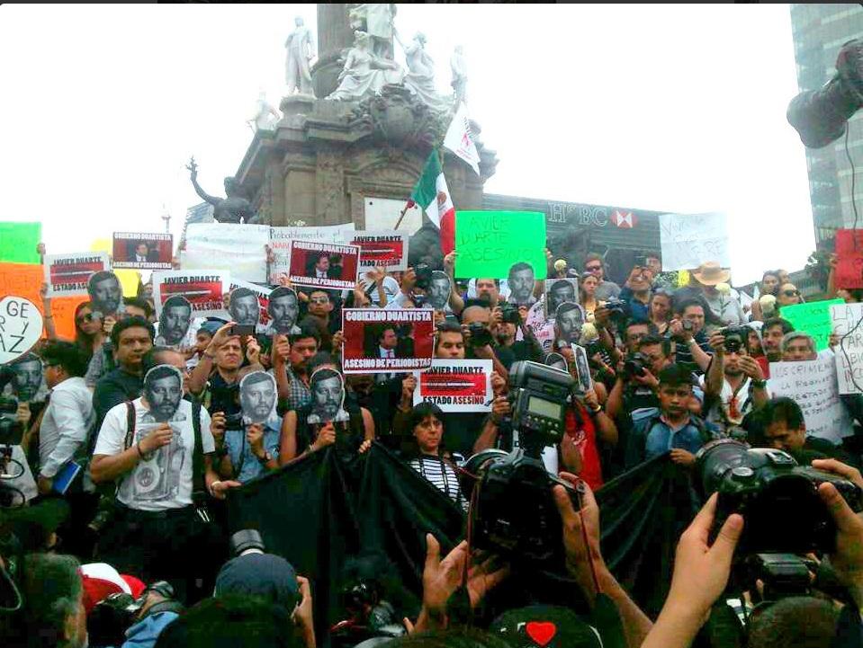 Marcha para exigir justicia para Rubén Espinosa Foto: @kikesma