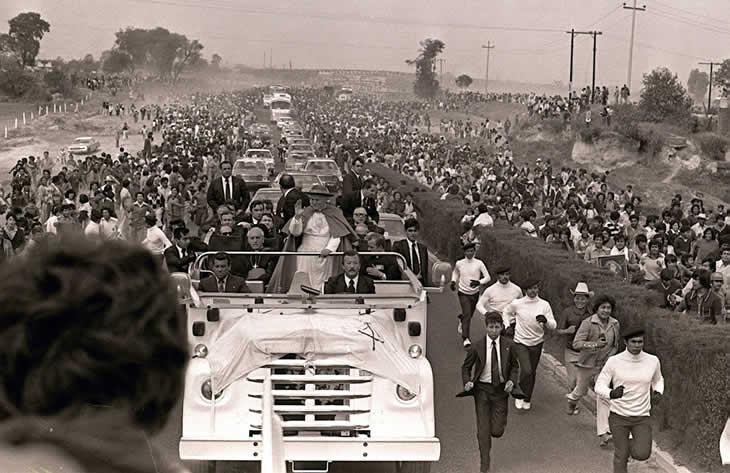 Juan Pablo II en su visita a México.