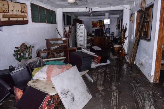 Vivienda afectada por el huracán Patricia.