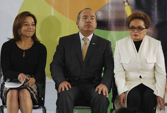 Josefina Vazquez Mota, Felipe Calderon y Elba Esther Gordillo. Foto: Internet