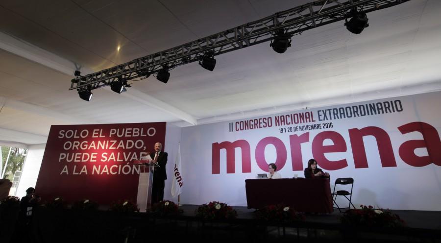 Segundo congreso nacional extraordinario de Morena. Foto: Especial