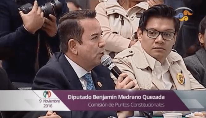 El diputado del PRI,Benjamín Medrano. Foto: Canal del Congreso