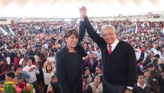 Con Delfina Gómez y AMLO, Morena alcanza al PRI en el Estado de México