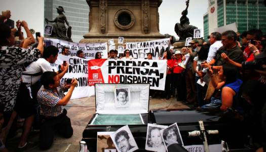 En México, 104 periodistas han sido asesinados y 23 están desaparecidos